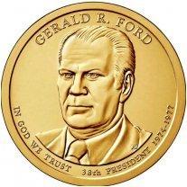 США 1 доллар, 2016 год. 38-й президент США. Джеральд Форд 00438