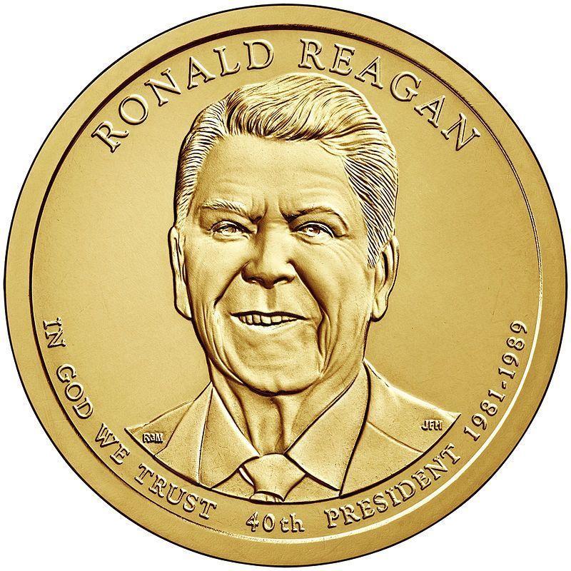 США 1 доллар, 2016 год. 40-й президент США. Рональд Рейган 00459