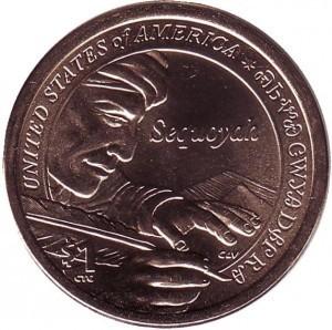 США 1 доллар, 2017 год. Сакагавея (Вождь племени чероки Секвойя) 00506
