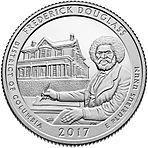 США 25 центов, 2017г. 37-й Национальное историческое место Фредерика Дугласа 00515