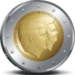2 евро Нидерланды 2014 г. Двойной портрет