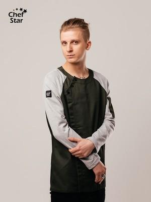 Китель-бомбер BBQ (Барбекю), Khaki/Grey, Chef Star
