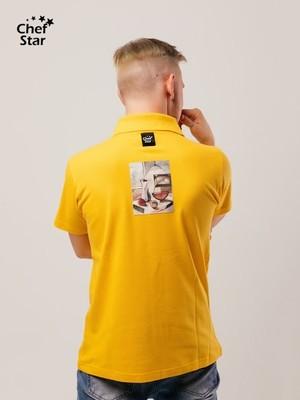 Футболка Поло Still-life (Натюрморт), Yellow, Chef Star