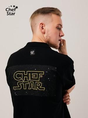 Футболка Поло Star Wars (Стар Варс), Black, Chef Star