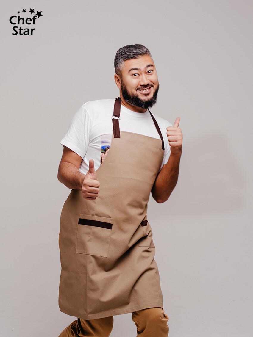 Фартук Coffee (Кофе), Brown, Chef Star