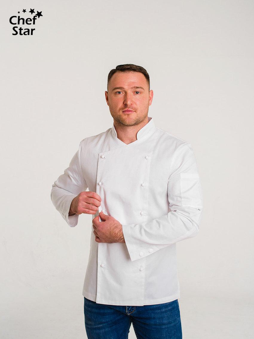 Китель Salsa (Сальса), White, Chef Star