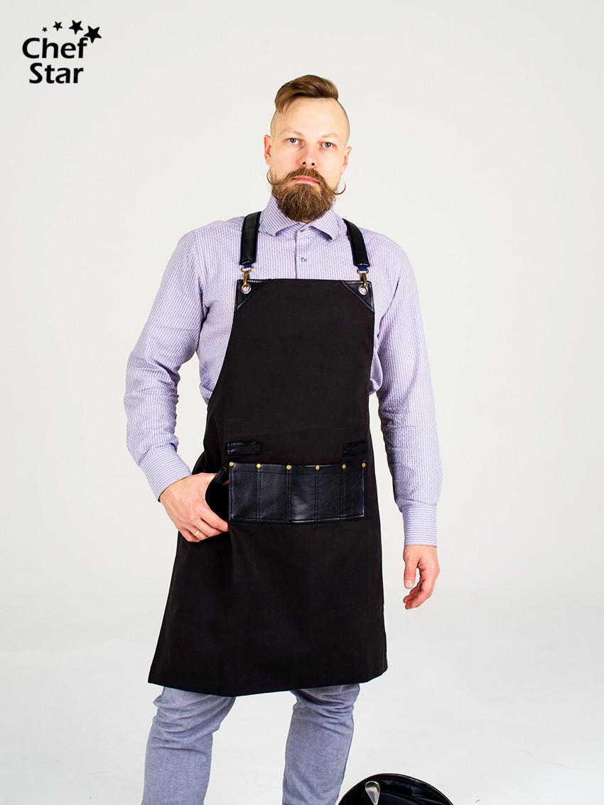Фартук «BarBer» (БарБер), Black, Chef Star