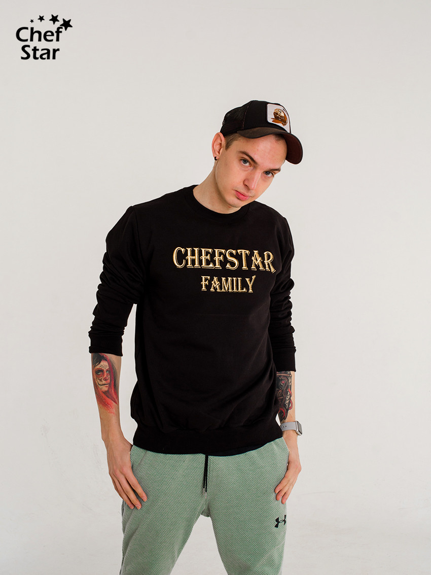 Свитшот (Sweatshirt), Black, Chef Star