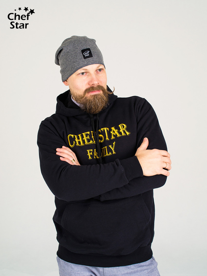Шапка (Cap), Dark Grey, Chef Star