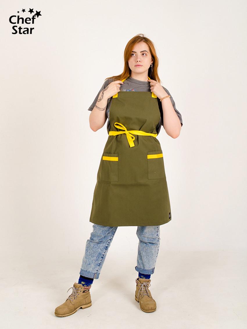 Фартук Cardamom (Кардамон), Khaki/Yellow, Chef Star