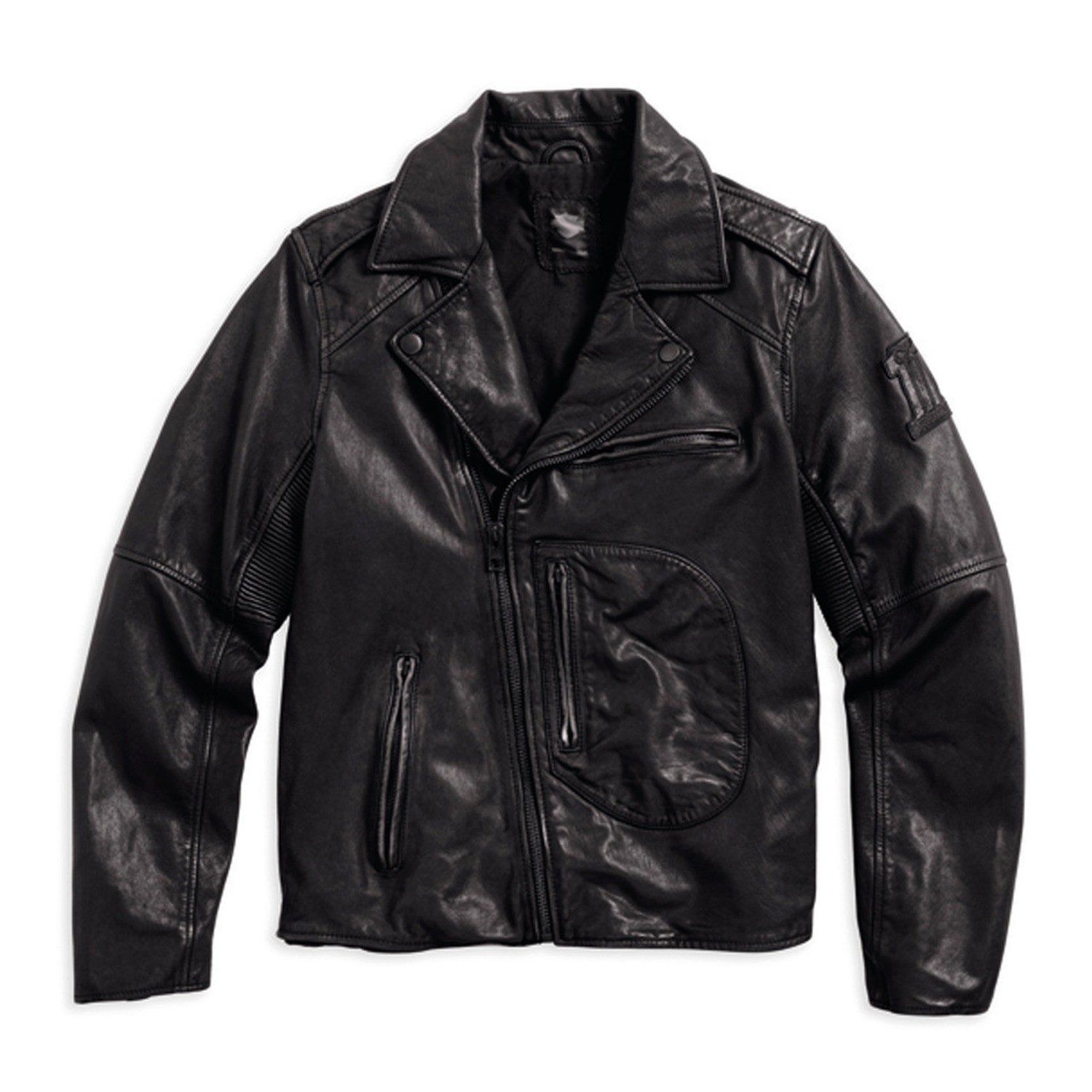 Vintage Fashion Leather Riding Jacket Men