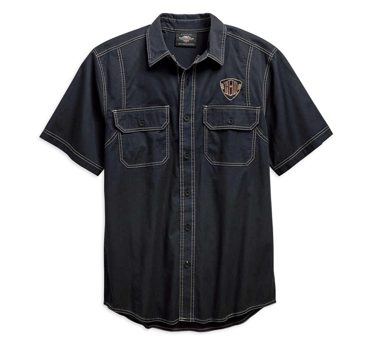 Shirt Men Short Sleeve Piston Graphic