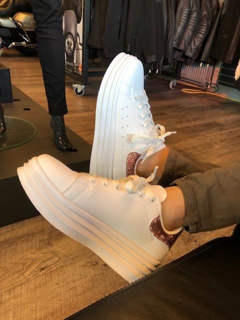 Sneakers White Champagne Rosé Women