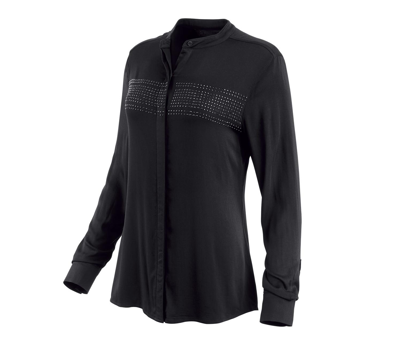 H-D® Moto Studded Stripe Rayon Shirt Women