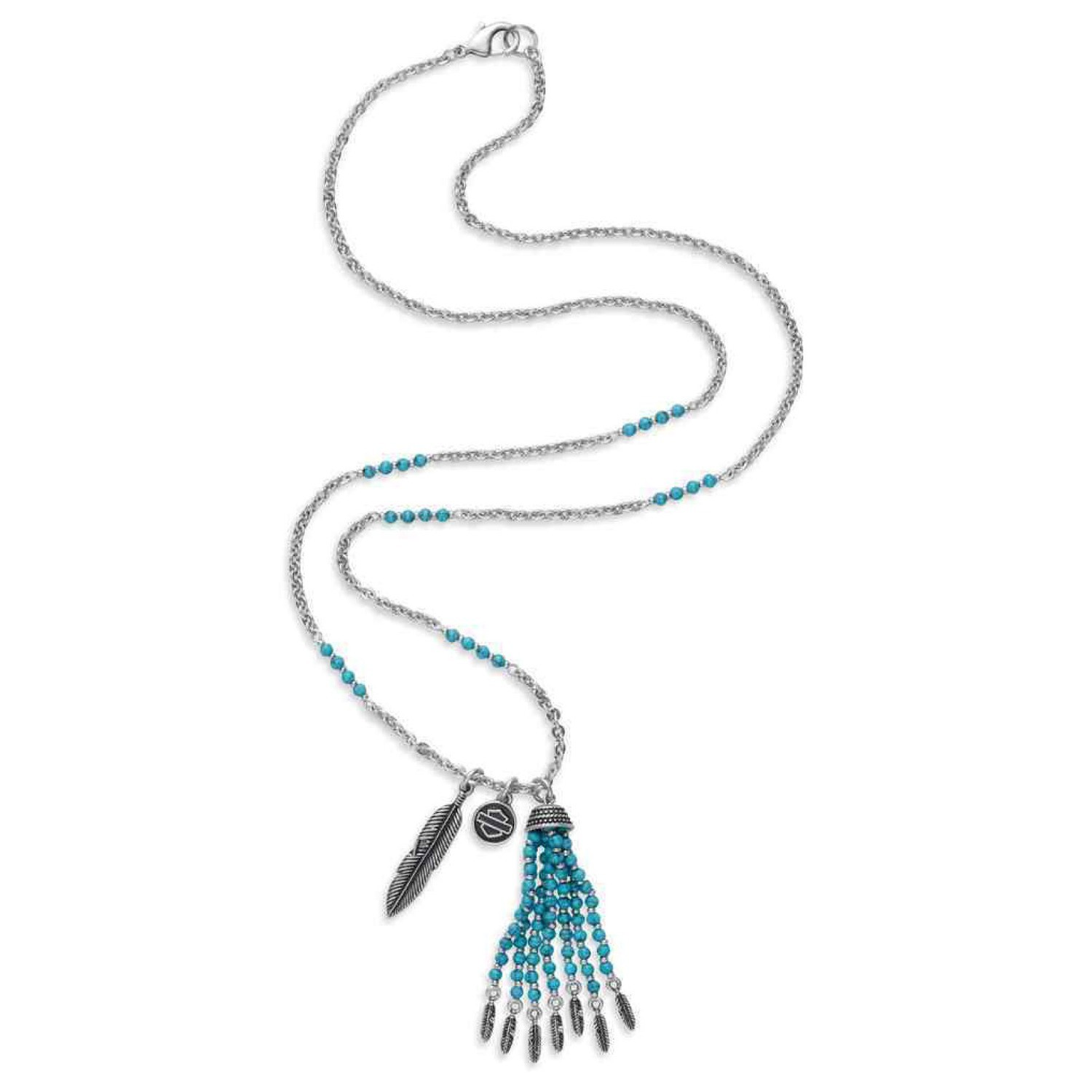 Necklace Women Free Spirit Turquoise Bead & Charm
