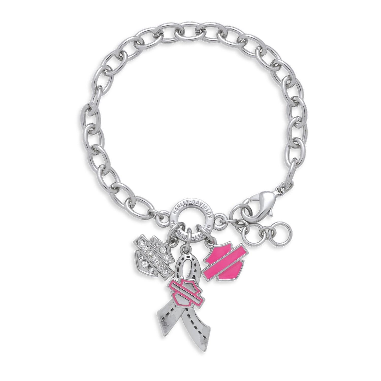 Pink Label Charm Bracelet Women
