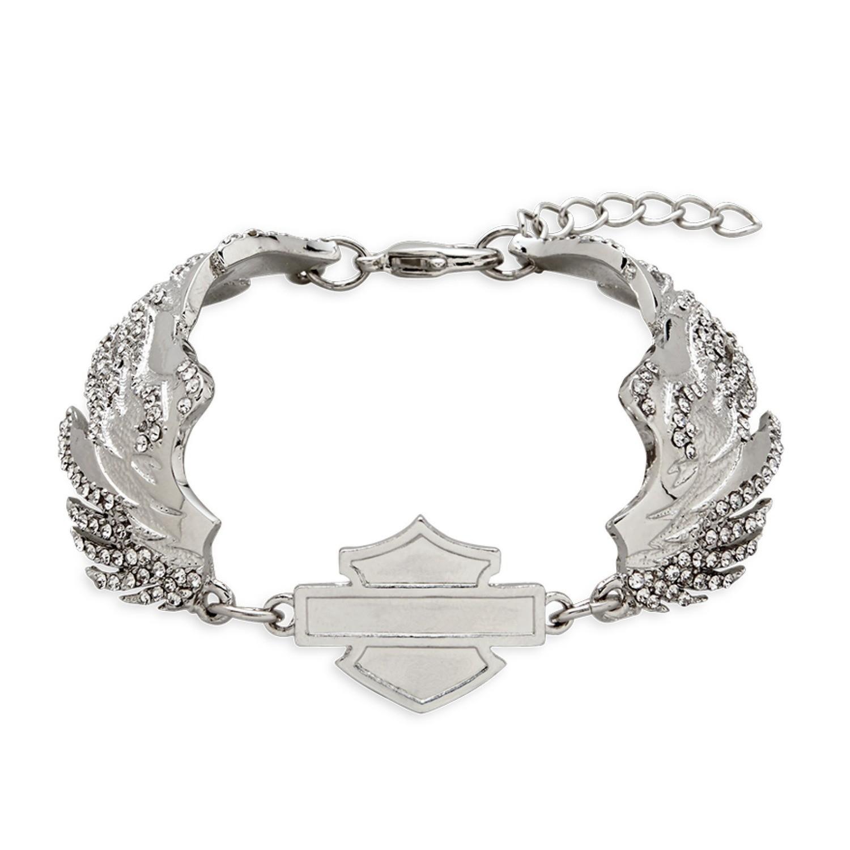 Bracelet Women Bar & Shield Winged