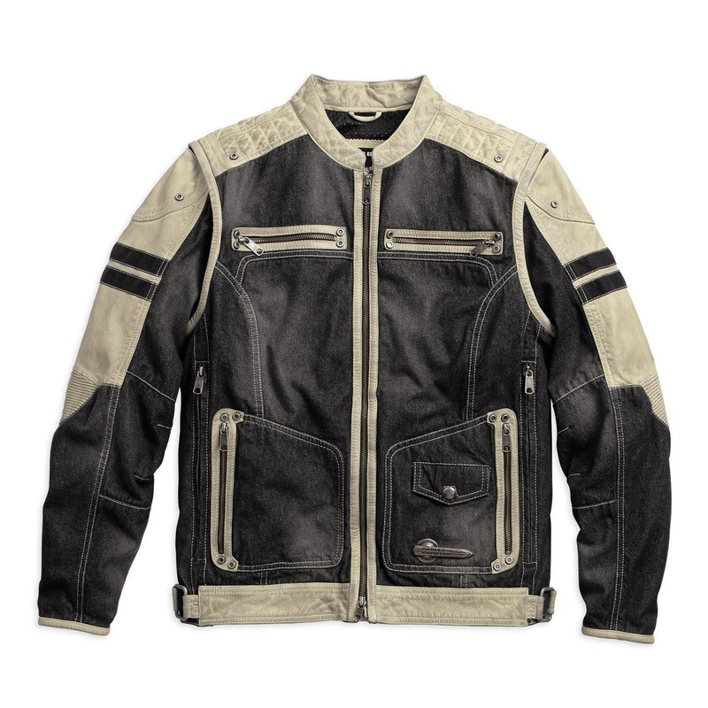 Jacket Men Knave Textile/Leather Riding