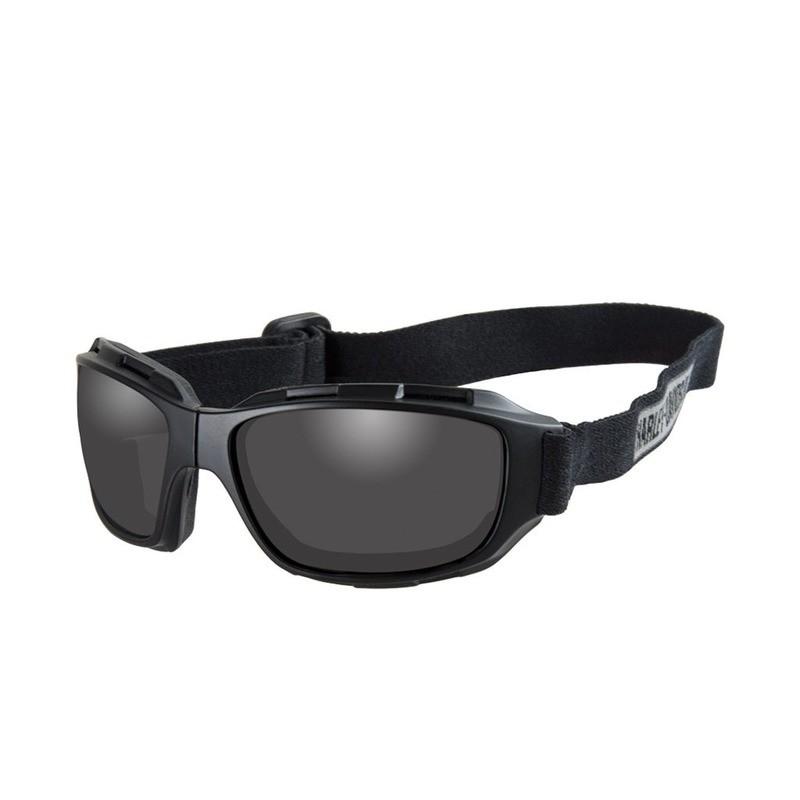 Wiley X HD Bend Smoke Grey Lens / Matte Black Frame Biker Glasses