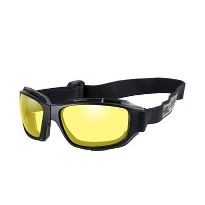 Wiley X HD Bend Yellow Lens / Matte Black Frame Biker Glasses