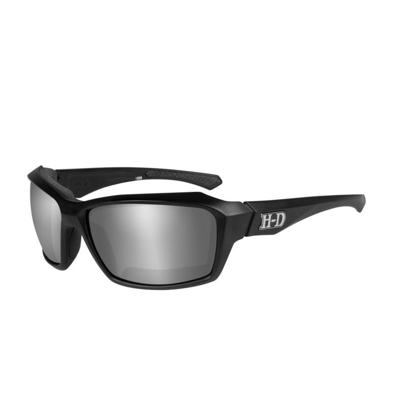 Wiley X HD Cannon Smoke Grey Silver Flash Lenses / Matte Black Frame Biker Glasses