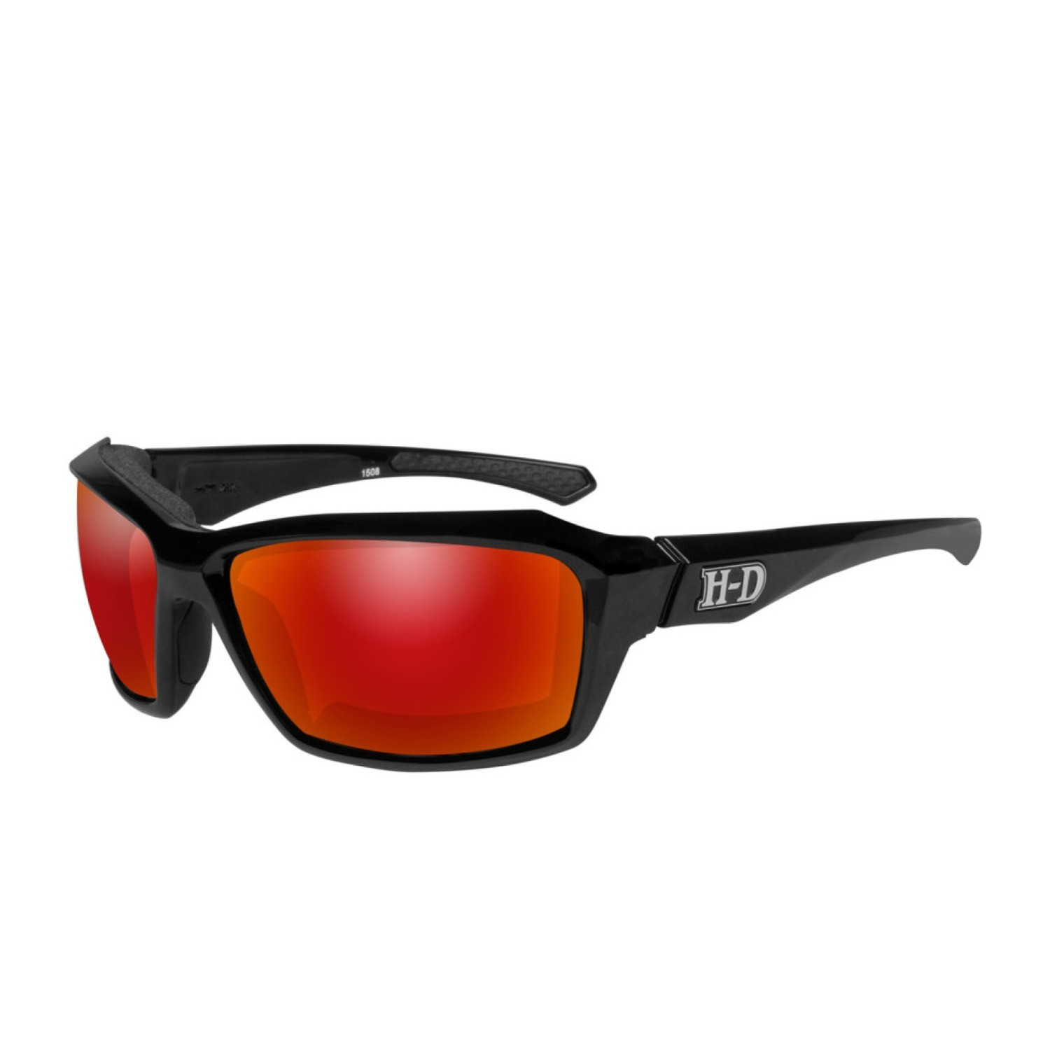 Wiley X HD Cannon Red Mirror Lenses / Gloss Black Frame Biker Glasses