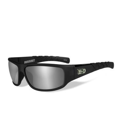 Wiley X HD Burnout Grey Smoke Silver Flash Lenses / Matte Chrystal Grey Frame Biker Glasses
