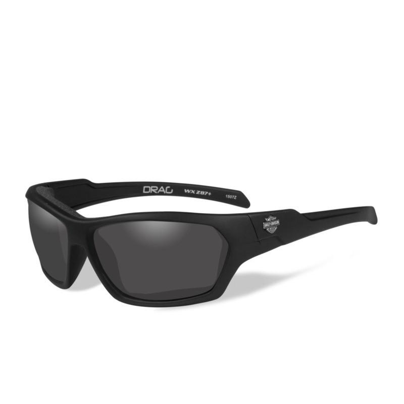 Wiley X HD Drag Smoke Grey Lenses / Matte Black Frame Biker Glasses