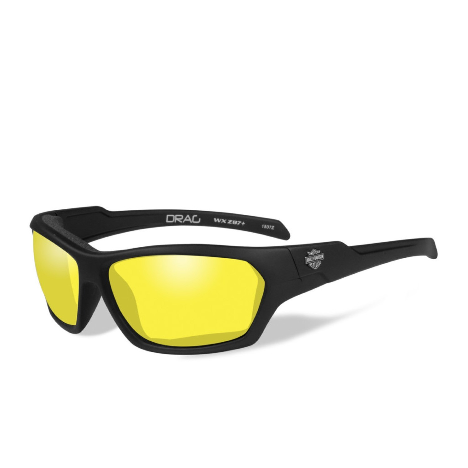 Wiley X HD Drag Yellow Lenses / Matte Black Frame Biker Glasses
