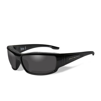 Wiley X HD Drive 2 Smoke Grey Lenses / Gloss Black Frame Biker Glasses