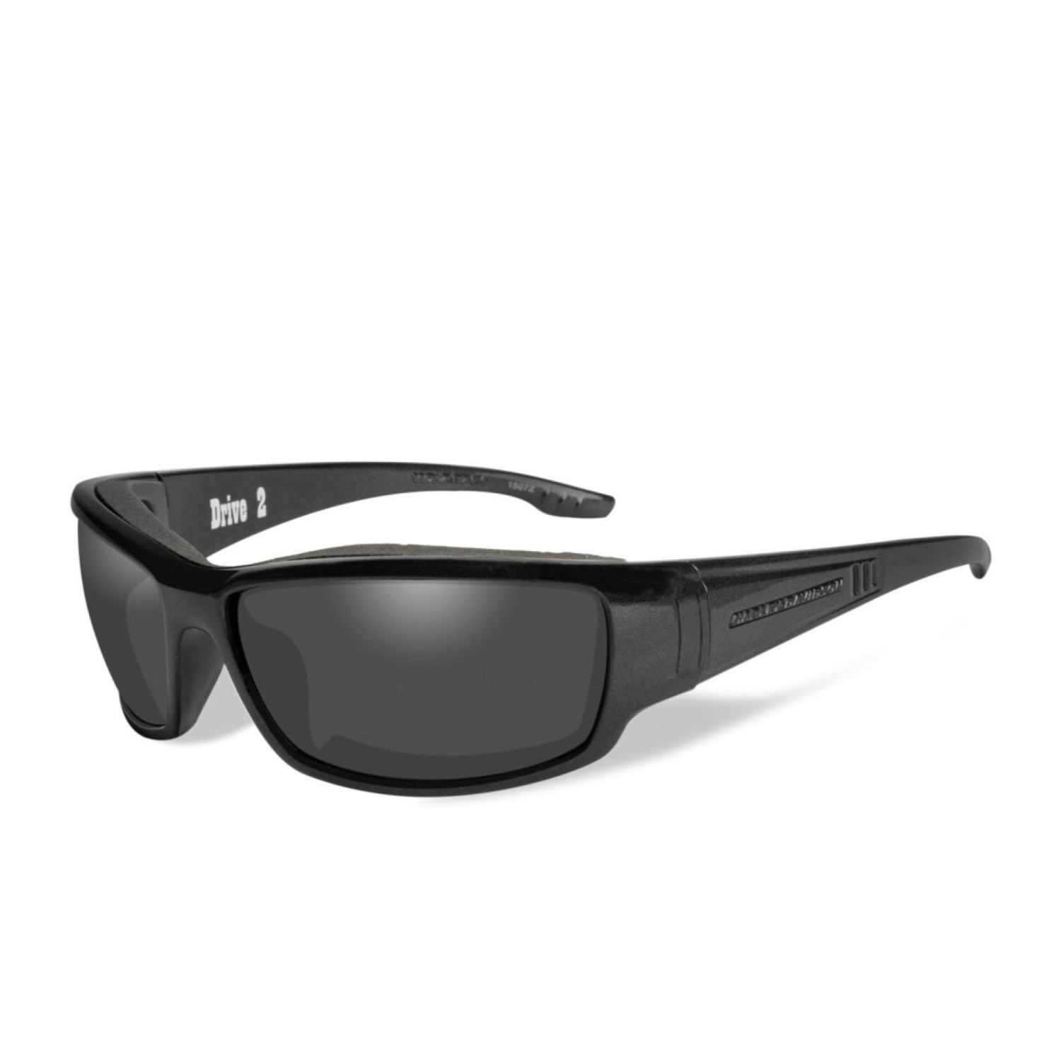 Wiley X HD Drive 2 Smoke Grey Lenses / Black Magic Frame Biker Glasses