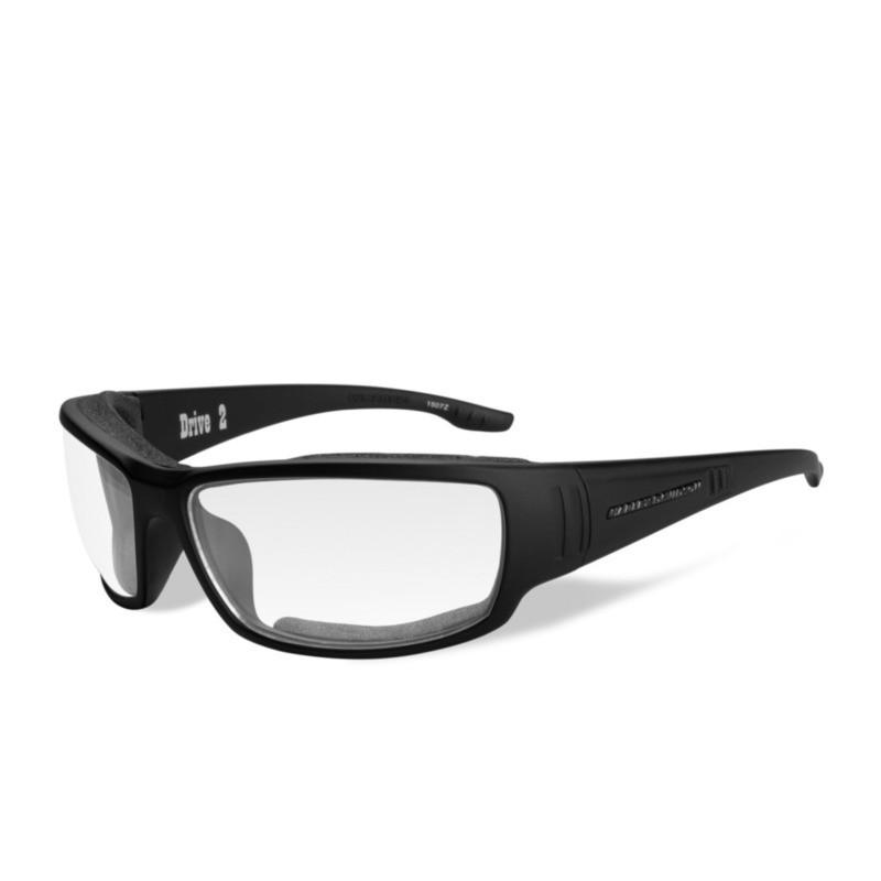 7170a5dab06c Wiley X HD Drive 2 Clear Lenses / Matte Black Frame Biker Glasses