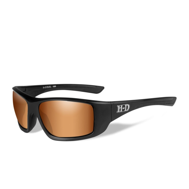 Wiley X HD Duel Bronze Flash Lenses / Matte Black Frame Biker Glasses