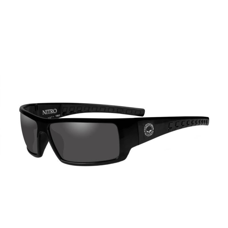 Wiley X HD Nitro Smoke Grey Lenses / Gloss Black Frame Biker Glasses