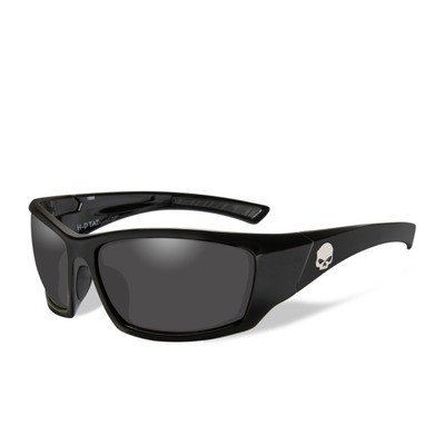 Wiley X HD Tat Smoke Grey Lenses / Gloss Black Frame Biker Glasses