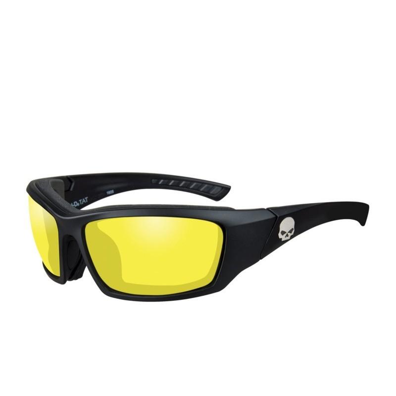 Wiley X HD Tat Yellow Lenses / Matte Black Frame Biker Glasses