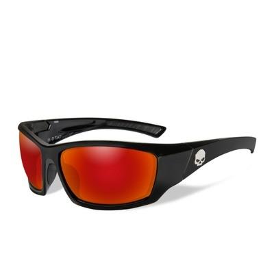 Wiley X HD Tat Red Lenses / Gloss Black Frame Biker Glasses