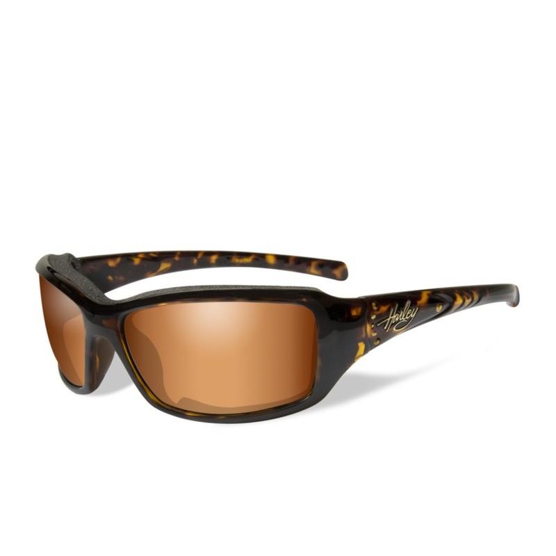Wiley X HD Tori Bronze Flash Lenses / Tortoise with Stones Frame Biker Glasses