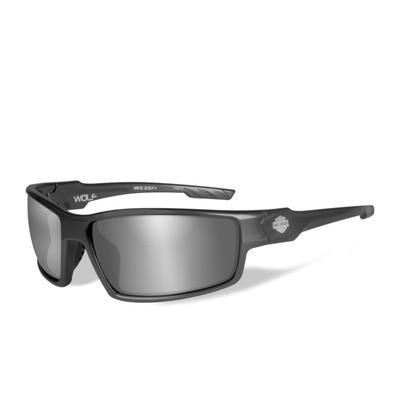 Wiley X HD Wolf Silver Flash Smoke Grey Lenses / Gunmetal Grey Frame Biker Glasses