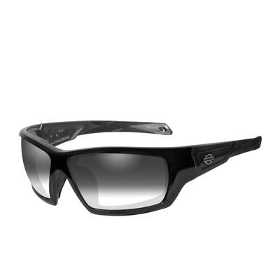 Wiley X HD Jet LA™ Light Adjusting Smoke Grey Lenses / Matte Black Frame Biker Glasses with Removable Gaskets