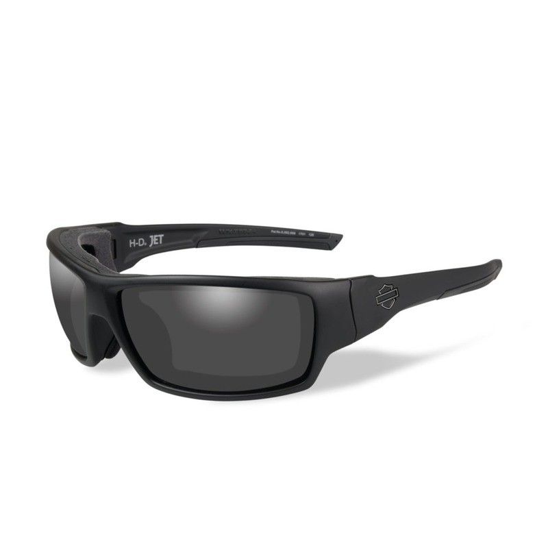 Wiley X HD Jet Smoke Grey Lenses / Matte Black Frame Biker Glasses with Removable Gaskets