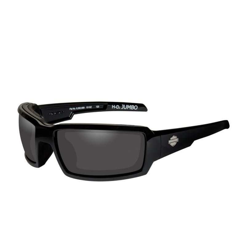 Wiley X HD Jumbo Smoke Grey Lenses / Gloss Black Frame Biker Glasses with Removable Gaskets