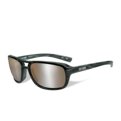 Wiley X HD Classic Silver Flash Copper Lenses / Black-Grey Tortoise Frame Biker Glasses