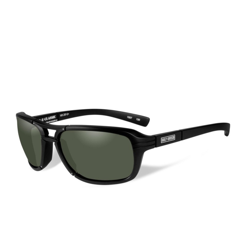 Wiley X HD Classic Smoke Green Lenses / Matte Black Frame Biker Glasses