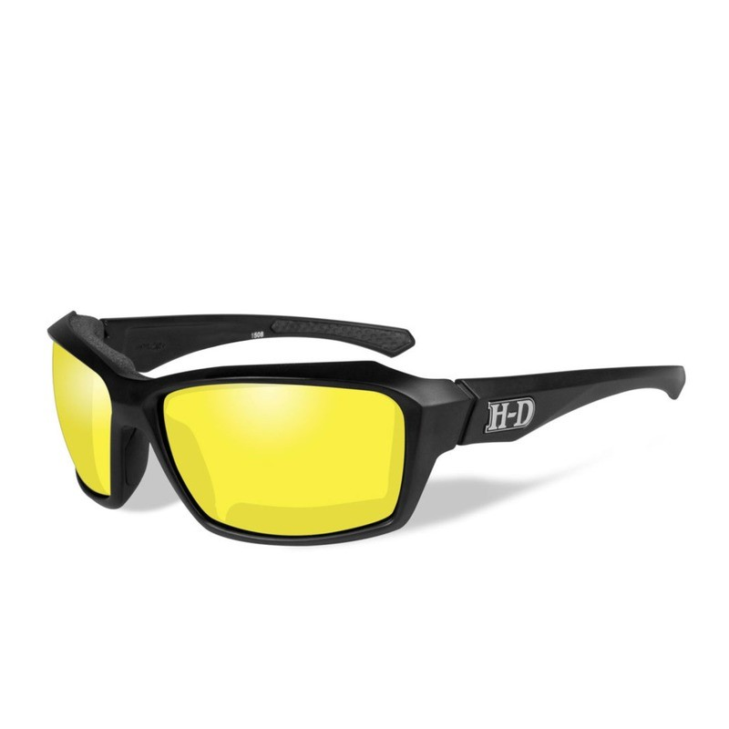 Wiley X HD Cannon Yellow Lenses / Matte Black Frame Biker Glasses