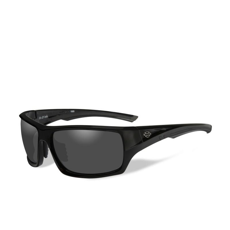 Wiley X HD Ink Smoke Grey Lenses / Gloss Black Frame Biker Glasses