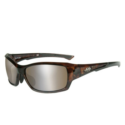 Wiley X HD Lace Copper Silver Flash Gloss Grey Lenses / Demi Frame with Stones Biker Glasses