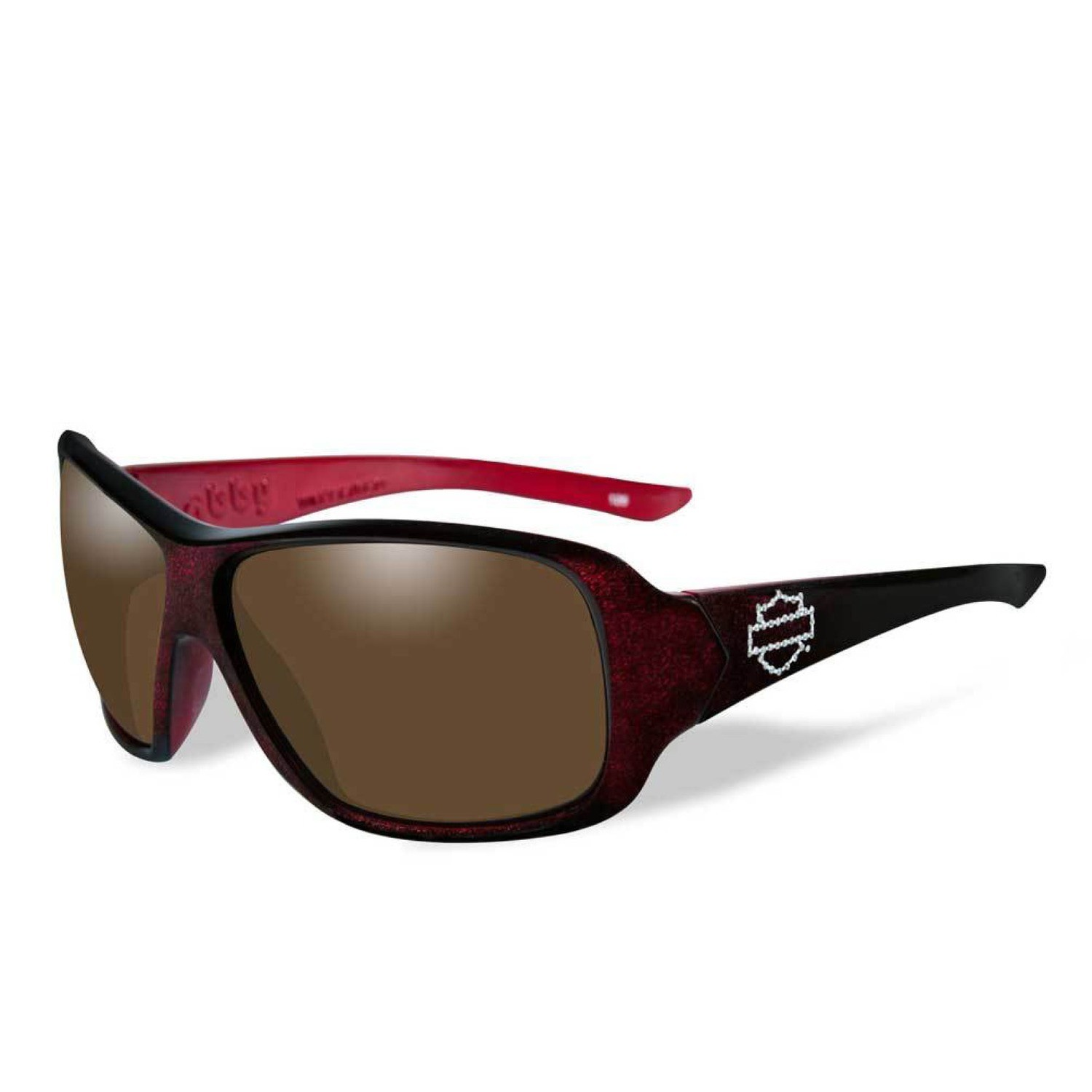 Wiley X HD Abby Bronze Lenses / Red Sunglow Frame Biker Glasses