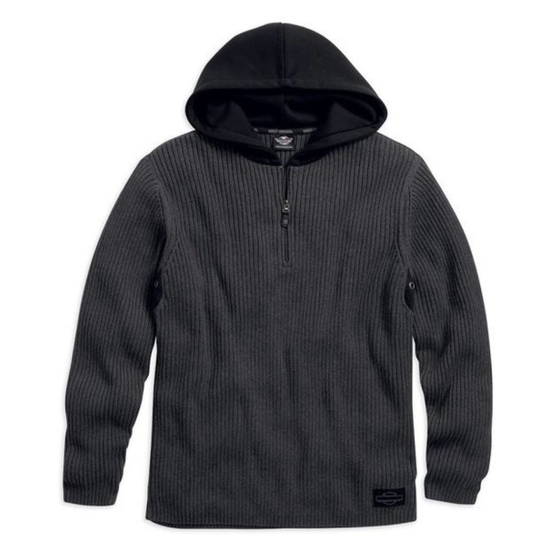 Pullover Sweater Hooded Men Heavyweight