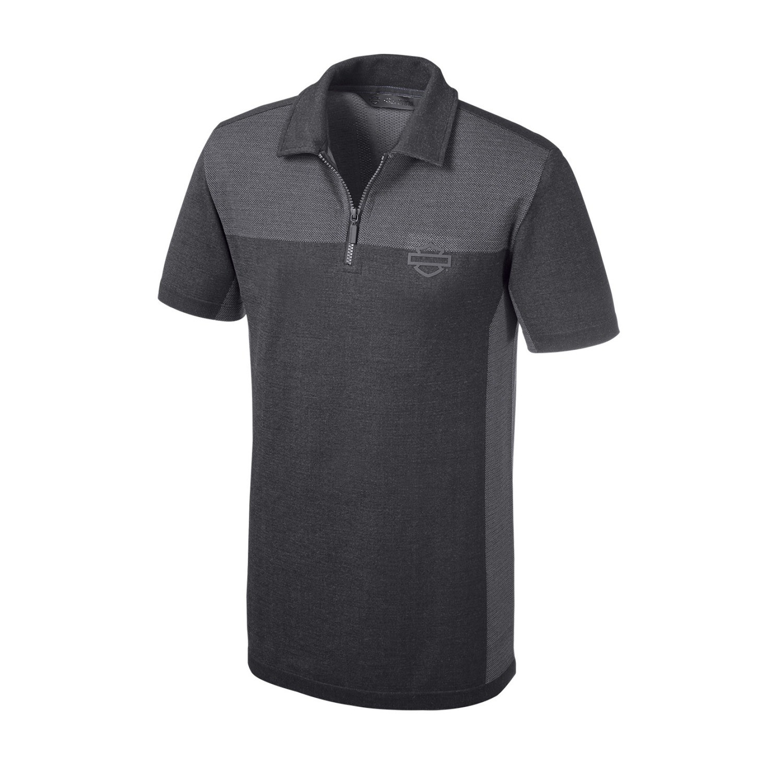 Shirt Men Short Sleeve H-D Moto® Seamless Knit Slim Fit Polo